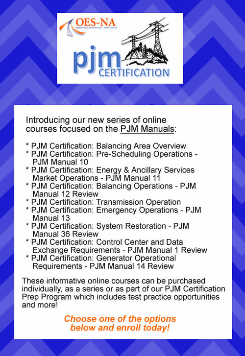 PJM Certification Course Announcement